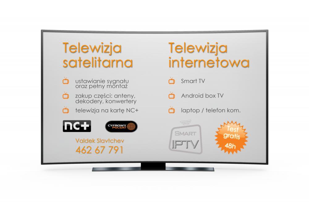 MONTAŻ Anten satelitarnych, telewizja internetowa