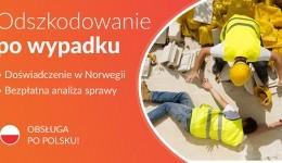 Odszkodowanie za WYPADEK PRZY PRACY w Norwegii