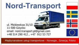*Nord-Transport: *PL - NO 28.08 */* NO - PL 31.08*