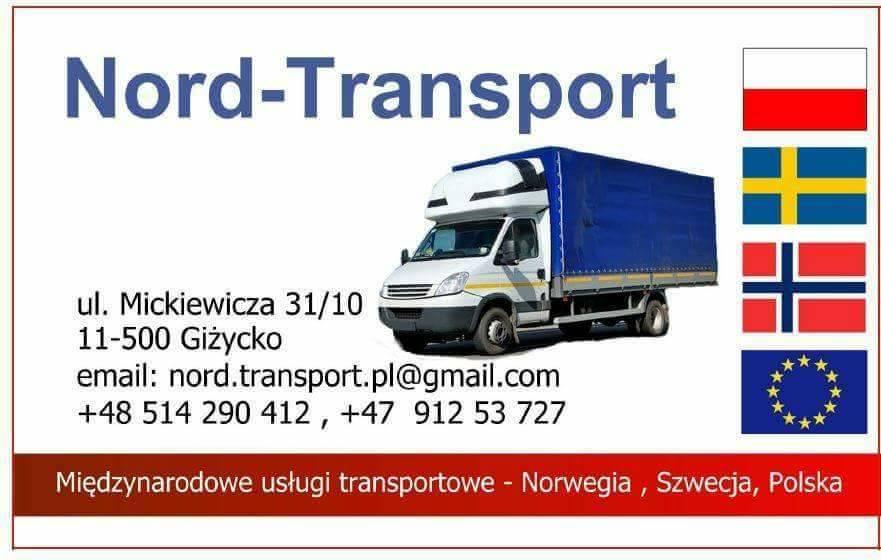 *Nord-Transport: * POLSKA - NORGE : 14.11 * / *NORGE - POLSKA : 19.11 *