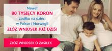 Zasiłek rodzinny i opiekuńczy w Norwegii