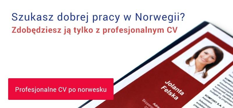Tłumaczenie CV na norweski + korekta
