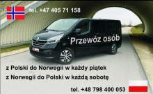 PRZEWÓZ Osób i paczek z pol 13.11 z Nor 14.11