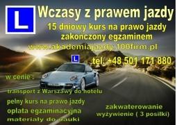 Prawo jazdy w 15 dni - wysoka zdawalność !!!