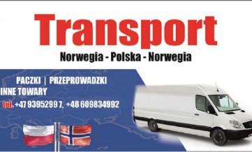 Transport, przeprowadzki, paczki, Polska-Norwegia 4 styczeń