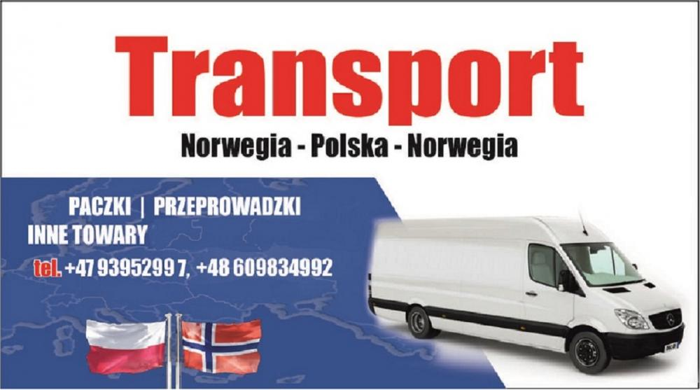 Transport, przeprowadzki, paczki Norwegia-Polska 15.12 Polska-Norwegia 5.01
