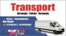 Transport, przeprowadzki, paczki Norwegia-Polska 17.07 Polska-Norwegia 14.08
