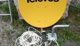 Antena satelitarna 80 Konwektor 4 wyjscia uchwyt