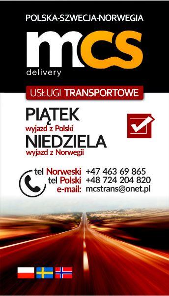 PACZKI POLSKA-NORWEGIA MCS 21/22.03.19