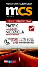 PACZKI POLSKA-NORWEGIA MCS 21/22.06-24.06