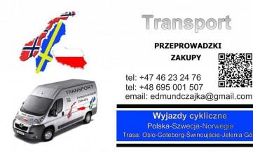 Transport ,paczki  z Polski do Szwecji i Norwegii