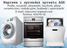 Naprawa -sprzedaż sprzętu AGD.Tel: 45079118