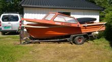 Łódka 14 stóp z przyczepka + plus silniki mariner 25