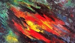Kompozycja Abstrakcyjna – sprzedam obraz olejny na