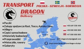 Transport  Polska - Szwecja - Norwegia Dragon-Olsztyn