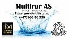Firma Multirør AS Usługi hydrauliczne(Oslo,Drammen,Lilestrøm,Asker,Hønefoss)