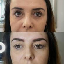 Makijaż permanentny brwi metoda cienia