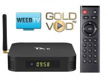 TX6 Android TV BOX - WEEB.TV + GOLDVOD.TV