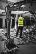 Pomocnik budowlany, usuwanie azbestu