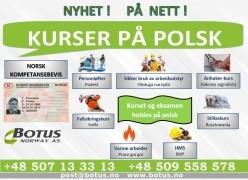 KURSY / SZKOLENIA norweskie po polsku - Kompetansebevis – Norweskie certyfikaty kompetencji.