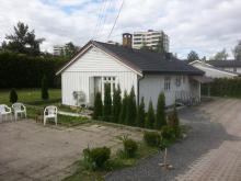 Pokoj jednoosobowy w domku z ogrodem na Haugenstua w Oslo( dobra komunikacja,1 strefa)